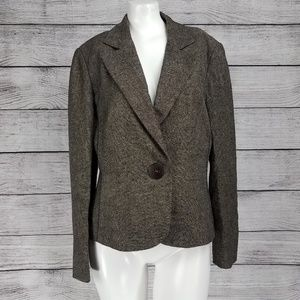 NEW Tribal One button Career wool blazer jacket 10